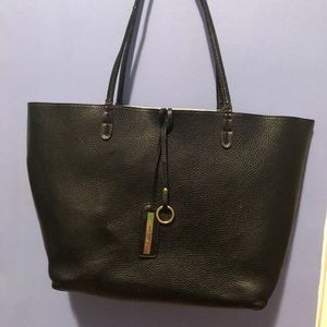 ModCloth Reversible Black/white Faux Leather Tote